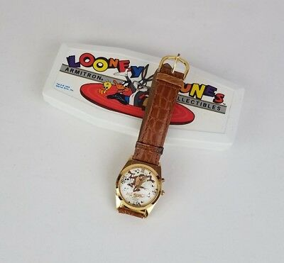 Looney Tunes Armitron Collectibles Taz Singing Watch Leather Band Warner Bros 94