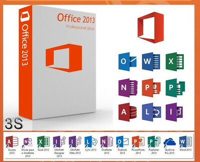 OFFICE 2013 PROFESSIONAL PLUS 32/64 Bit LICENZA PRODUCT KEY MULTILANGUAGE