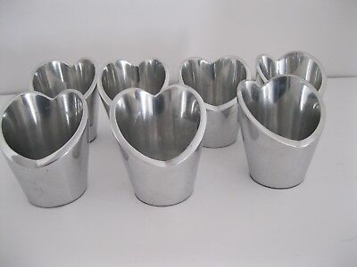 "Tea Light Candle Holders, Pre-Owned Silver Heart Shaped 3.5"" Tall 7 Available"