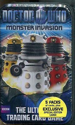 Doctor Who Monster Invasion Factory Sealed Trading Card Tin