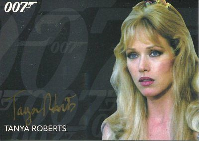 James Bond Archives 2017 Final Edition Autograph Tanya Roberts