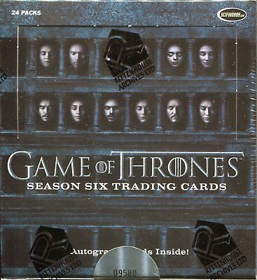 Game Of Thrones Season 6 Factory Sealed Trading Card Hobby Box