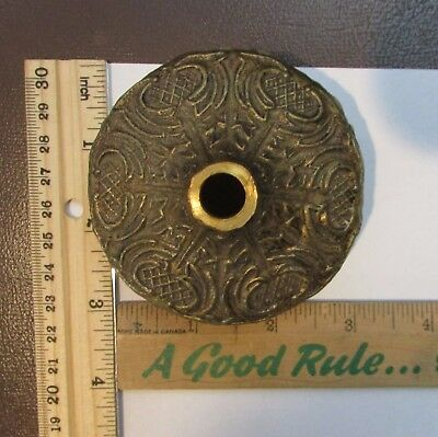 Vintage Spain Brass ?? 5 Hole / Arms Hub Ring Spacer Chandelier Part