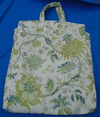 "Padded Pillow Bag For A 24"" Pillow.  Coromandel Pattern Fabric. 2 Side Zips."