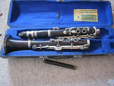 "Nice, very old wooden  ""open hole"" C  Clarinet Albert system(?) 4 rings"