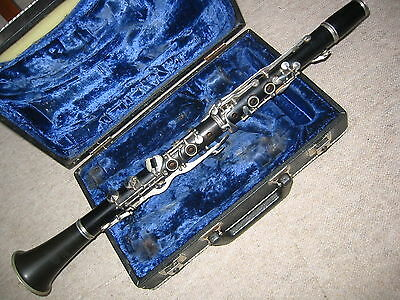 "Nice used wooden Bb Clarinet 4rings ALBERT  System, ""Musica Steyr Austria"""