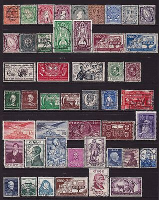 Ireland 1922 to 1970 Collection of Stamps 2 pages all different