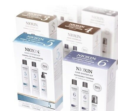 Nioxin Hair Loss Kits - Systems 1 2 3 4 5 6  Thicker Fuller Hair