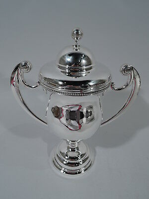 Antique Trophy Cup - Golfing Golfer's Golf Ball Prize - American Sterling Silver