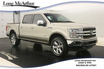 2018 Ford F-150 KING RANCH 4WD SUPER CREW MSRP $67405 REMOTE START, VOICE NAVIGATION, TWIN PANEL MOONROOF, LEATHER SEATS, BEDLINER