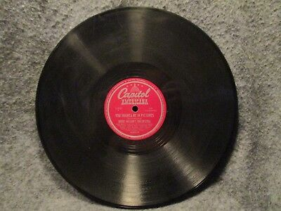 """78 RPM 10"""" Record Eddie Millers Orchestra Muskrat Ramble Capitol Records A40039"""
