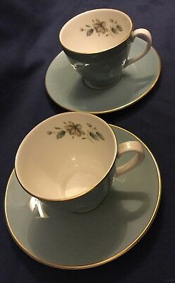 Royal Doulton Rose Elegans English Translucent China Expresso Cup and Saucer (2)