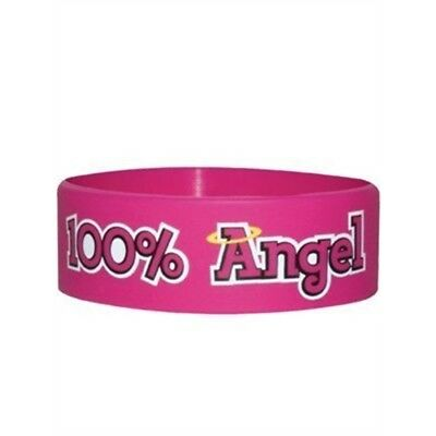 100% Angel Pink Rubber Wristband - 100 100% Clothes Accessories Wristbands