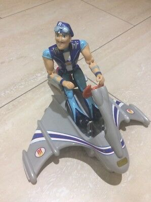 Lazytown Sportacus Action Figure And Skychaser Rescue Vehicle Mattel 2007