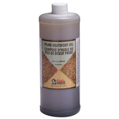 946ml Prime Neatsfoot Oil Leather Softener - Tandy Compound Quart Waterproof