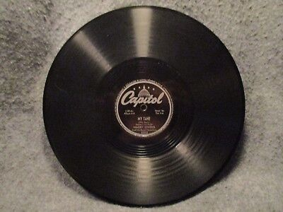 """78 RPM 10"""" Record Harry Owens The Laughing Song & My Tane Capitol Records 20002"""