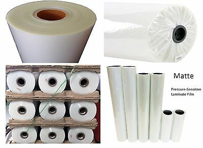 """Any Purpose Clear Laminating Cold Matte Laminate Vinyl 54"""" x 75' (2 rolls)"""