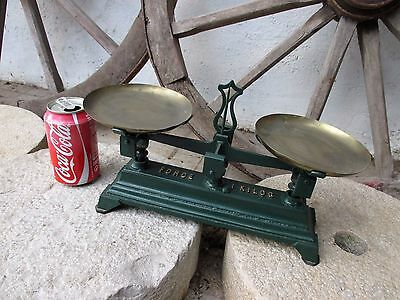 Genuine Antique Lovely Small Scale FORCE 1 KILOG Functional Decorative Old Tool