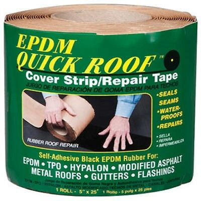 "Cofair EPDM 5""x25' Self Adhesive Quick Roof Repair Tape BRQR525"