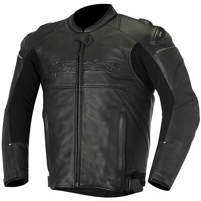 Alpinestars Black Shadow Hades Leather Jacket Black 58 EUR/48 USA