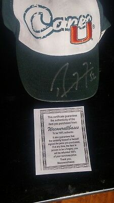 Ray Lewis Miami Hurricanes autographed Zephyr Hat with Coa