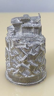 Vintage Pewter The House On The Rock Wisconsin Collectible Sewing Thimble