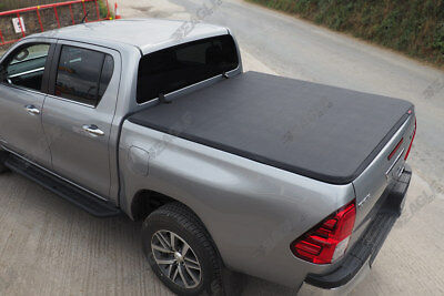 New 2016 Toyota Hilux Bed Cover Soft Vinyl Tonneau Cover Roll Up Non Drill