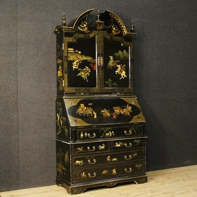 Trumeau lacquered furniture chinoiserie wood cupboard fore antique style