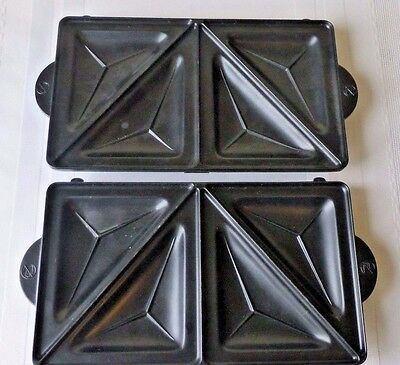 Sandwich Maker Grill  Plates Grids Press Replacement Parts Set of 2