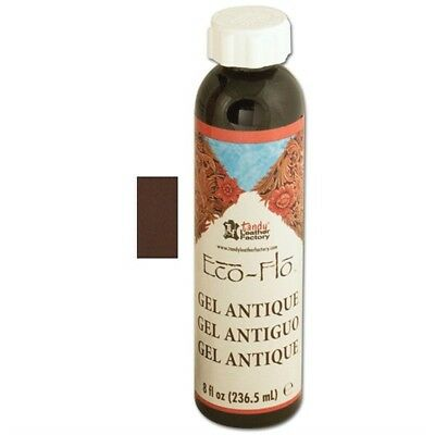 8oz Dark Brown Eco Leather Antique Gel - Ecoflo 8 Oz Dk Sheen Polish