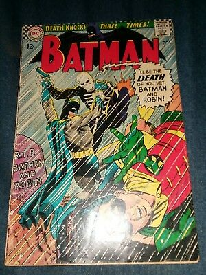 BATMAN #180 1st appearance deathman and yogi VG DC Comics 1966 silver age lot