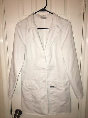 Grey's Anatomy Women's Small 32 Inch Two Pocket Fitted Lab Coat White