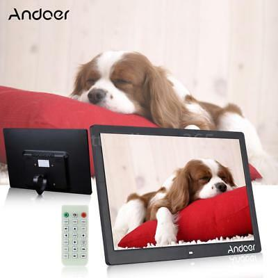 15.6'' HD Digital Photo Picture Frame Clock MP3/4 Movie Player+Remote Gift W7I9
