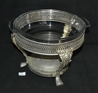 ThriftCHI ~ Metal Chafing Dish Server w Glass Insert