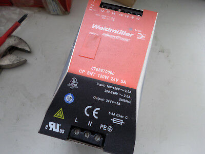 WEIDMULLER POWER SUPPLY - 24VDC 5 amps Output with OK Relay Output 87086700000