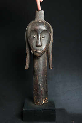 Fang, Janus Reliquary Head Figure, Central Gabon, African Tribal Art.