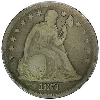 1871 $1 Liberty Seated Dollar - Problem Free Example, PCGS G06 -