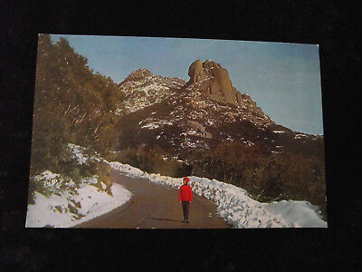 Vintage Real Photo Postcard: The Cathedral &Hump Rock, Mt. Buffalo