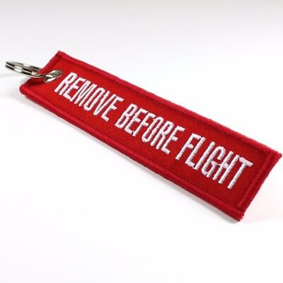 Remove Before Flight Key Chain Bag Tag red/white Free Shipping from USA