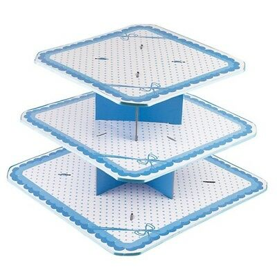 Dots Blue Cake Stand 3 Tiers Large