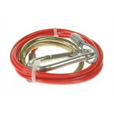 Breakaway Cable Red 1m x 2mm Bk - Safety Braked Trailers Maypole Mp498b 2 Pvc