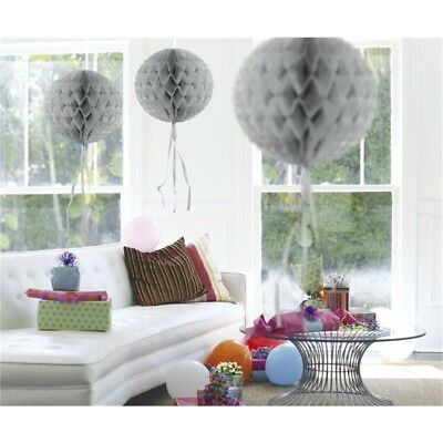 Decoration Honeycomb Ball Silver 30cm - Party