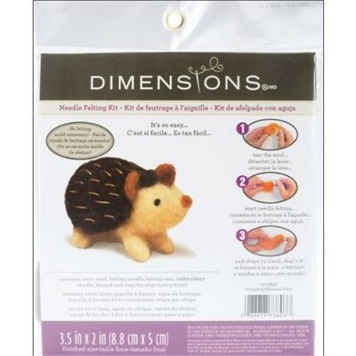 Dimensions Needle Felt Kit - Hedgehog - Felting Felted Multicolour