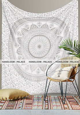 Ombre Queen Size Handmade 100% Cotton Mandala Gypsy Wall Hanging Tapestry Decor
