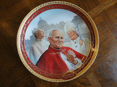 First Limited-edition Collection Plate, His Holiness John Paul II, No Sale Tax