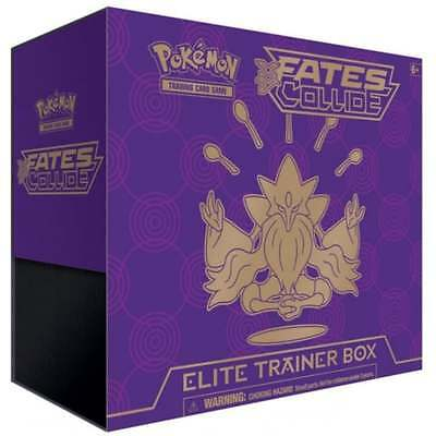 Fate's Collide Elite Trainer Box Pokemon Cards TCG Super Rare Out of Print Retro