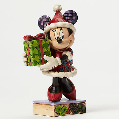 Disney*MINNIE MOUSE w/ HOLIDAY GIFT FOR YOU*Jim Shore*NEW*NIB*Christmas*4046015