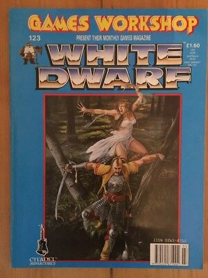 Warhammer White Dwarf Magazine Issue 123 Games Workshop 1990