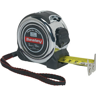Sealey Professional Tape Measure Imperial & Metric 16ft / 5m 25mm