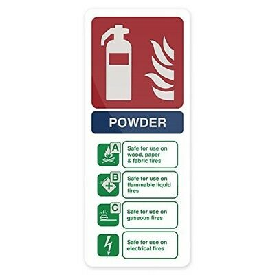 Fixman Dry Powder Fire Extinguisher Sign 202 x 82mm Self-adhesive - Fire